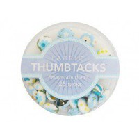 Blue Fabric Thumbtacks