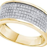 0.30CTW DIAMOND MICRO PAVE MENS BAND
