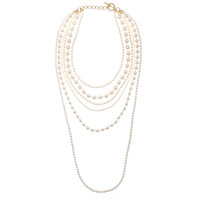 Long Layered Pearls Necklace | perfectsunday.co