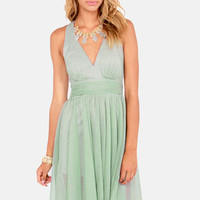 Blaque Label Fall Into Grace Sage Green Dress