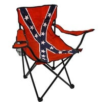 Confederate Flag Nylon Folding Camp Chair Rebel