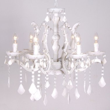 NEW! Ice White Chandelier  |  Chandeliers  |  Lighting  |  French Bedroom Company