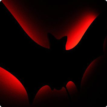 Lighted Gothic Bat Wall Art -Illuminated Vampire Goth Decor