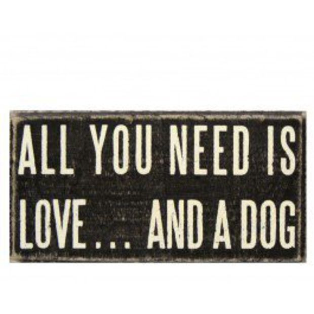 Love Dog Plaque