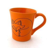 Fox Mug,  Orange can be personalized