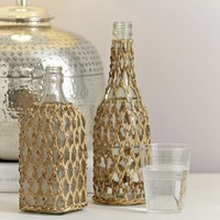 Raffia Wrapped Bottles