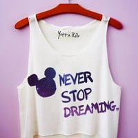 Galaxy Never Stop Dreaming Crop Tank Top