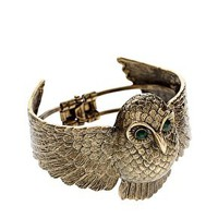 ASOS Chubby Owl Clamp Bangle at asos.com