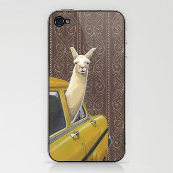 Taxi Llama iPhone & iPod Skin by Jason Ratliff | Society6