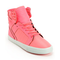 Supra Womens Skytop Pink Nylon High Top Shoe at Zumiez : PDP