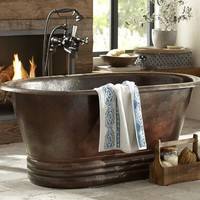 Hand Hammered Copper Bathtub