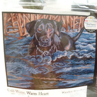 Needlepoint Kit Cold Water Warm Heart By Dimensions