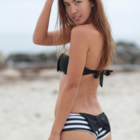 The Girl and The Water - LOLLI SWIM BOW BOTTOM POLKA DOT