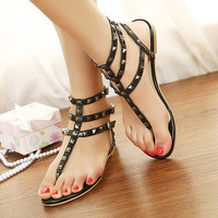 Candy Color Sandals with Cute Studs for Women JKL061621