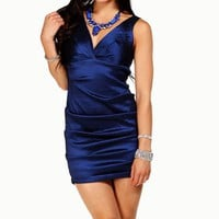 Justine-Navy Homecoming Dress
