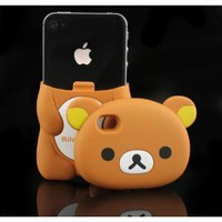 3D Brown Rilakkuma Bear Hard Case Cover for iPhone 4 4S 4G