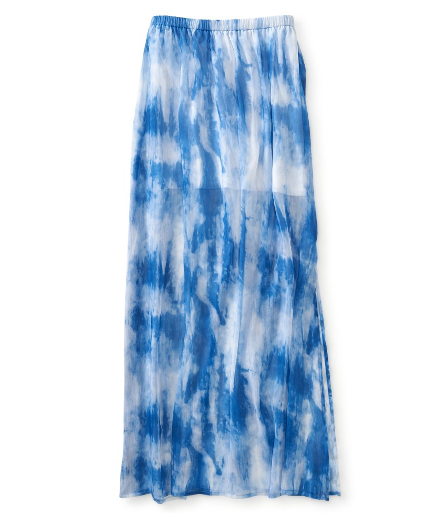 sheer tie dye maxi skirt aeropostale from a 233 ropostale