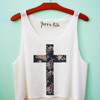 Elegant Cross Crop Tank Top