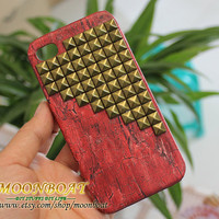 Apple iPhone 4  Bronze Stud Case Cover for Apple iPhone 4,iPhone 4s,iPhone 4g