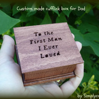 cufflink box, jewelry box, wedding box, wedding ring box, father of the bride gift, cufflinks, wedding cufflinks, wedding gift box, custom