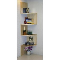4D Concepts Corner Spacesaver Bookcase, Maple