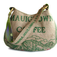 Earth Day Repurposed Burlap Coffee Bag Mauigrown by ManilaExtract