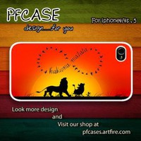 Infinity Hakuna matata Case For Iphone 44s 5 Samsung S234 by pfcase on Zibbet