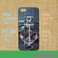 Anchor iPhone 5 case, iphone 4 case , ipod 5 case, ipod 4 case, samsung galaxy S3 , galaxy S4 case, galaxy note 2 case