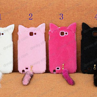 Bling pink   cat iphone 5 case iphone 4 case iphone 4s case 3D sumsnag galaxy s2 s3 s4 case galaxy note 2 case