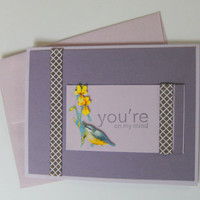 Handmade Card Sympathy Get Well Purple and Yellow