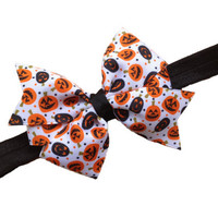 Pumpkin headband - Halloween headband, orange newborn headband