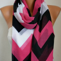 Chevron Scarf -Cotton Scarf Shawl Bridesmaid Gift  Multicolor Beach wrap Pareo -fatwoman