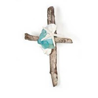 Starfish Driftwood Cross | Candy's Cottage