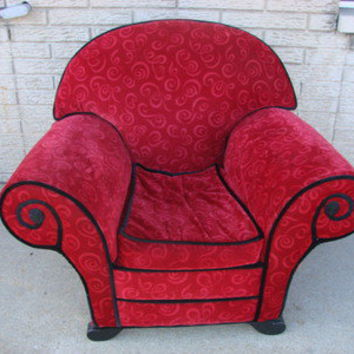 Blues Clues Upholstered Red Thinking from indianaonline on