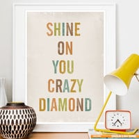 Positive Quote print Typography poster art Lyrics Print by handz