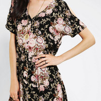 Urban Outfitters - Staring At Stars Gauze Button-Front Babydoll Dress