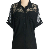 Adventures in Lace Top | Mod Retro Vintage Short Sleeve Shirts | ModCloth.com
