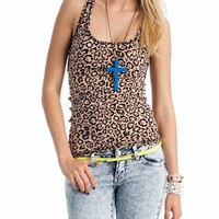 leopard print tank &amp;#36;7.50 in CAMELBLACK - Sleeveless | GoJane.com