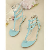 Candy Color Sandals with Cute Studs for Women CVS061621