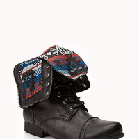 Southwest Bound Fold-Over Combat Boots | FOREVER 21 - 2075607928