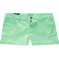 FORMULA Neon Distressed Womens Denim Shorts 192226500 | shorts | Tillys.com