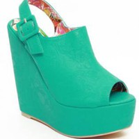 Mint Suede Wedge