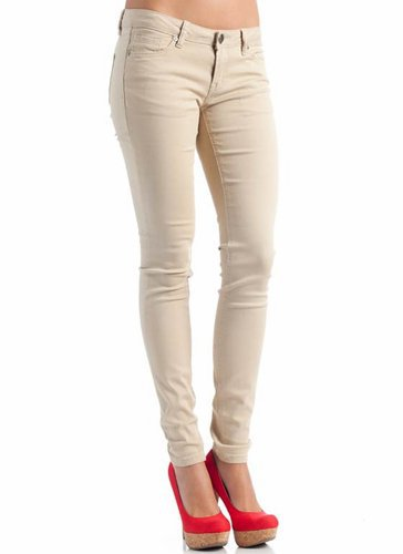 five pocket skinny jeans $23.00 in KHAKI or navy