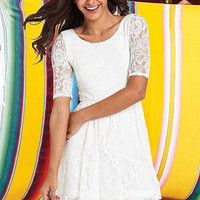 Paulette Lace Dress at Alloy