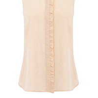 Oasis Shop | Mid Pink Silk Ruffle Blouse | Womens Fashion Clothing | Oasis Stores UK