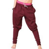 Adult and Child Harem Sweatpants,UC2004BURL,Burgundy,Large