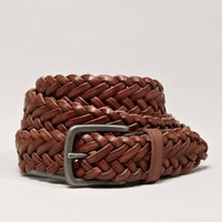 AEO Braided Leather Belt | American Eagle Outfitters
