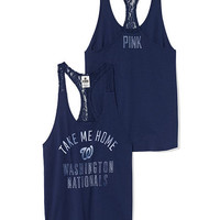 Washington Nationals Lace Racerback Tank - PINK - Victoria's Secret