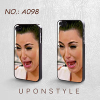iPhone 4/4S Case, iPhone 5 Case, Kim Kardashian Crying Ugly Face, Plastic Phone Cases, Case for iphone, Case No-098