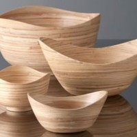 One Kings Lane - Shiraleah - Wavy Edge Bamboo Bowls